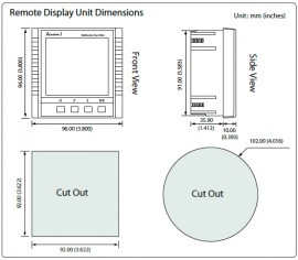Acuvim REM-DES2 Remote Display for Acuvim DIN-Rail Mounted meters