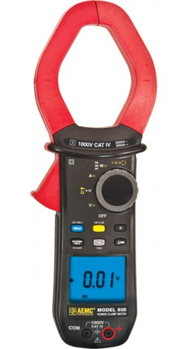 Aemc 605 True Rms Power Clamp Meter With Phase Rotation