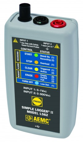 AEMC L562 Simple Logger II True RMS Datalogger, 2-Channel, 600V AC