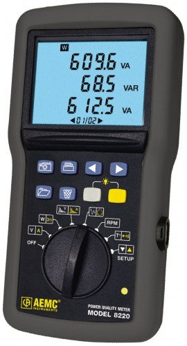 AEMC 8220 Single-Phase Power Quality Analyzer with Ampflex CT, 6500A