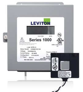 Leviton 1K120-02W Indoor 120V Single Phase kWh Meter Kit, 200A, 1 Split Core CT