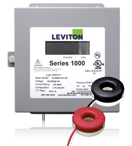 Leviton 1K240-2SW Indoor 120/240V Single Phase kWh Meter Kit, 200A, 2 Solid Core CTs
