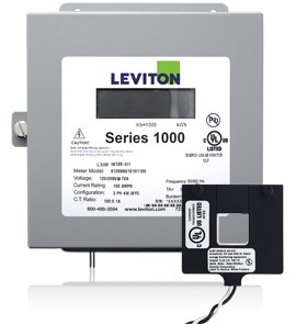 Leviton 1K277-01W Indoor 277V Single Phase kWh Meter Kit, 100A, 1 Split Core CT