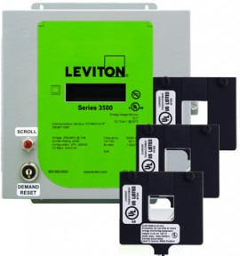 Leviton 3KUMT-50M Indoor kWh Meter Kit, 5000A with 3 Split Core CTs