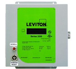 Leviton 3NUMT-01M Indoor kWh Meter, 100A, 208-480VAC, Meter Only