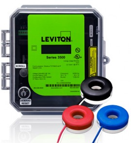 Leviton 3OUMT-1SM Outdoor kWh Meter Kit, 100A with 3 Solid Core CTs