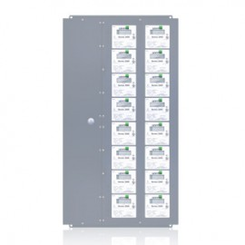 Leviton 2X409-CFG Extra Large Series 2000 MMU Multiple Meter Units, 277/480V, 9 Three Element Meters