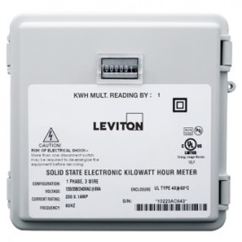 Leviton 6S101-B01 Mini-Meter Sub-Meters in Outdoor Weatherproof Enclosure, 120V