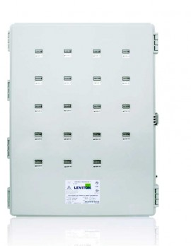 Leviton 6X319-CFG Mini Meter MMU in Outdoor Weatherproof Enclosure, 120/208V, 19 Dual Element Meters
