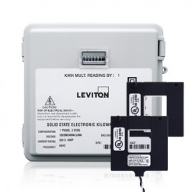 Leviton Mini-Meter Kit with Outdoor Enclosure 240V and 200A Split-Core CTs