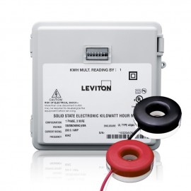 Leviton Mini-Meter Kit with Outdoor Enclosure 240V and 200A Solid-Core CTs