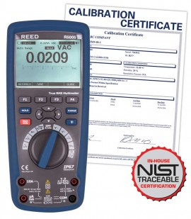 REED R5005 True RMS Bluetooth/Waterproof Industrial Multimeter, includes NIST Traceable Certification