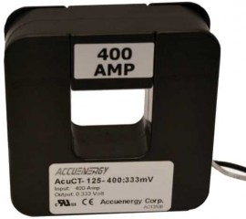 "Accuenergy AcuCT-125-400:333 Split Core Current Transformer, 1.25 x 1.25"", 400 A:333 mV-"
