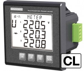 Accuenergy Acuvim-CL-D-5A-P2 Power/Energy Meter, LCD, RS485, 5 A input, 60 Vdc-