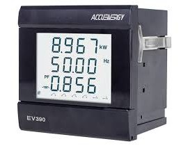Accuenergy EV390-E1 Three Phase Multifunction Power and Energy Meter, 2 relay output, 6 digital inputs-