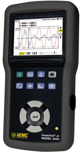 AEMC 8230 Single-Phase Power Quality Analyzer with MN93 CT, 240A-