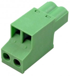 Dent CONN 2POS PLUG 5.08MM Replacement Pulse and I/O Connector for the PowerScout 24-