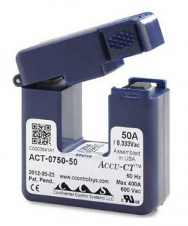 HOBO T-ACT-0750-050 Accu-CT Current Transformer, 50 A/333 mV-