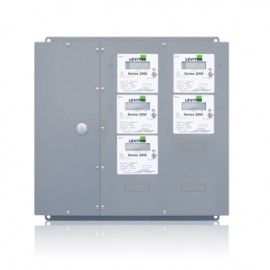 Leviton 2L205-CFG Large Series 2000 MMU Multiple Meter Units, 120/208V, 5 Three Element Meters-