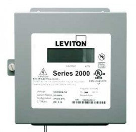 Leviton 2N208-1D VerifEye Series 2000 3P/4W Indoor 3-Element Demand Meter, 120/240/208 V, 100 A-