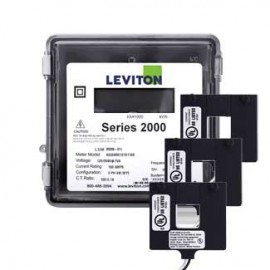 Leviton 2O208-4W VerifEye Series 2000 3P/4W Outdoor Meter Kit with 3 Split-Core Current Transformers, 120/208 V, 400 A-