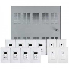 Leviton 95A00-1 Hi-Fi 2 Distributed Audio System with Enclosure, 8 Sources, 8 Zones-