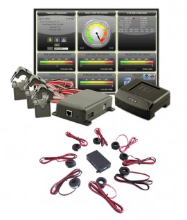 TED Pro Commercial Kit Three-Phase Energy Monitoring System with Spyder 200-D, 400A-